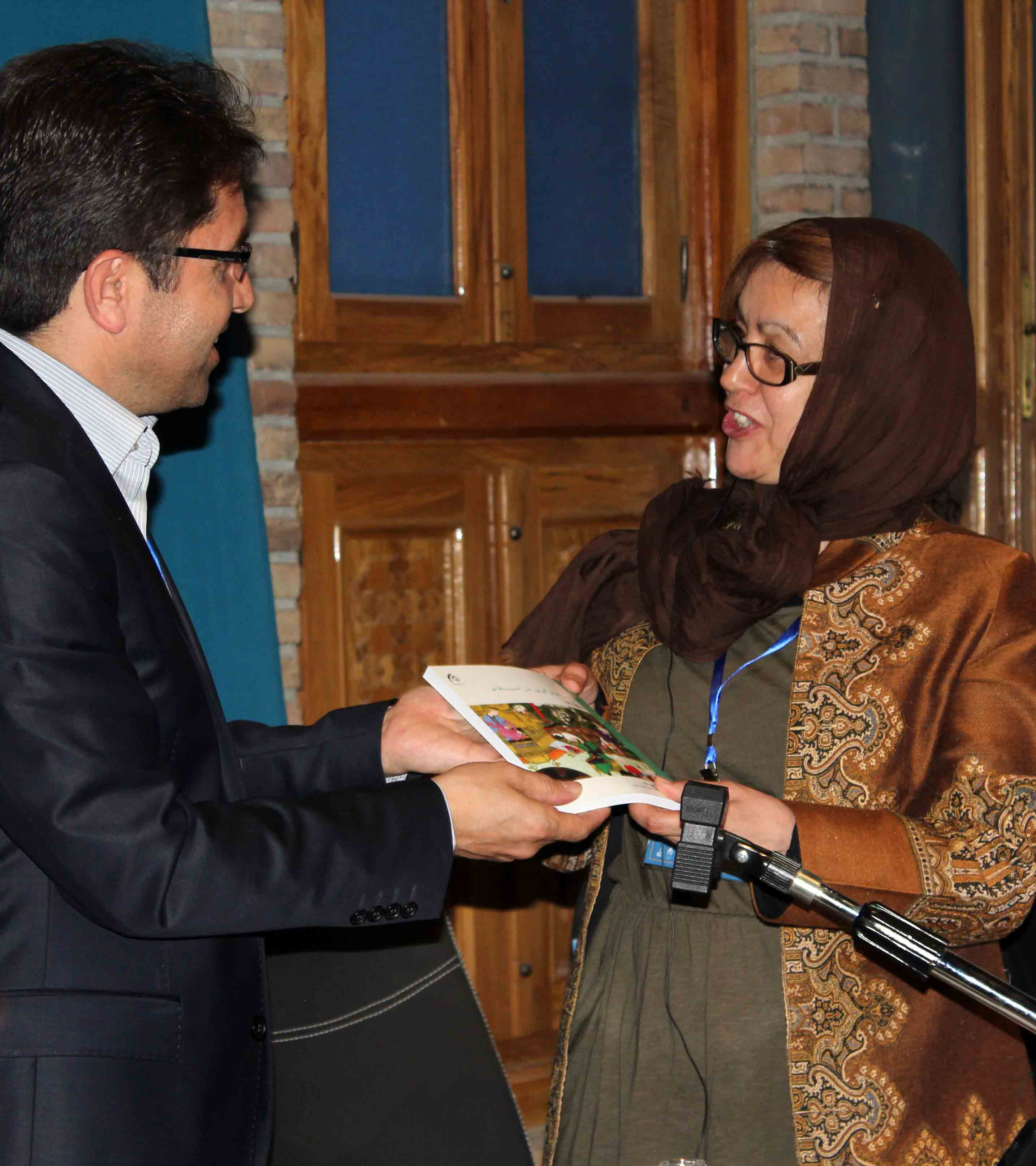 The unveiling ceremony of a book Dr.Mehdi Mohammadzadeh